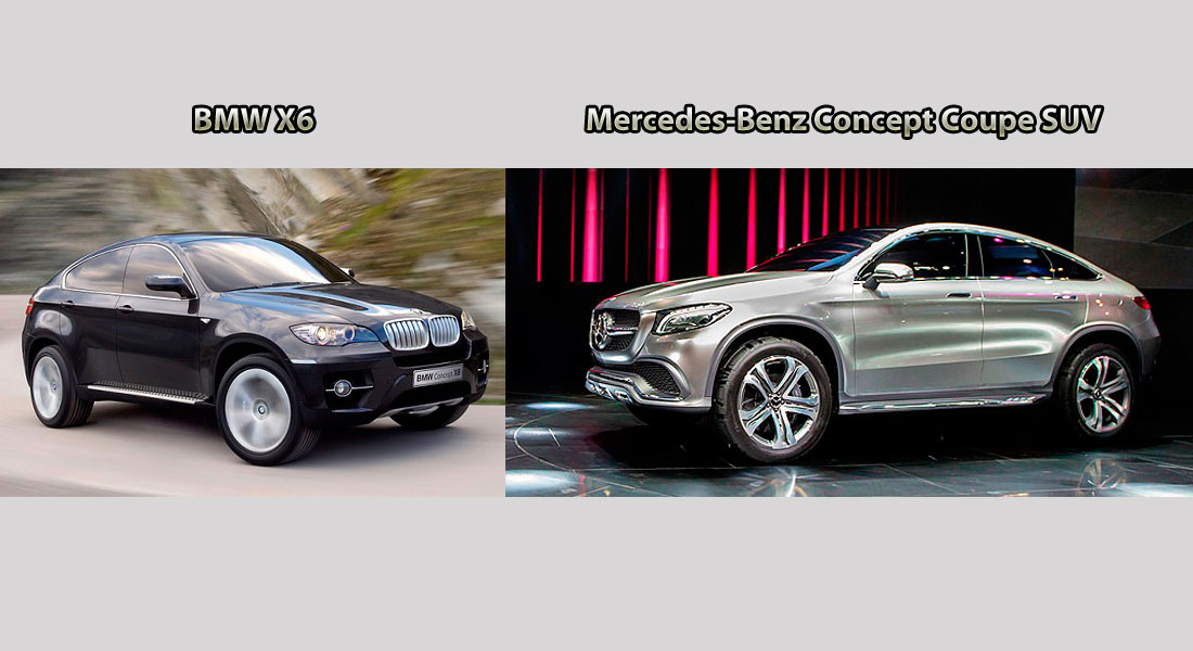 Mercedes-Benz Concept Coupe SUV vs BMW X6